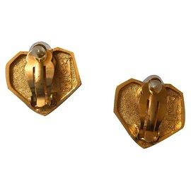 Yves Saint Laurent-Earrings-Coral