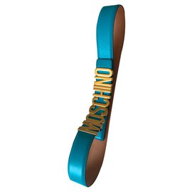 Moschino-Belts-Turquoise