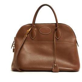 Hermès-Bolide 35 HAZELNUT SOFT-Brown,Golden