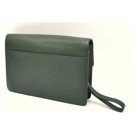 Louis Vuitton-Louis Vuitton Taiga Clutch Bag-Green