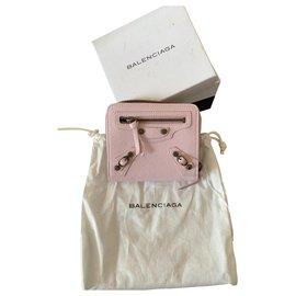 Balenciaga-Pink Balenciaga new leather wallet-Pink