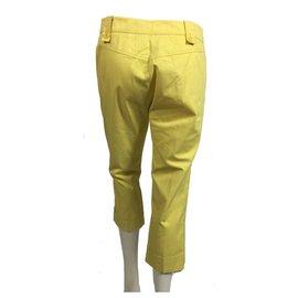 Marella-yellow cotton pants-Yellow