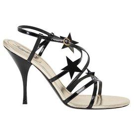 Yves Saint Laurent-Leather sandals-Black