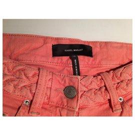 Isabel Marant-Peach jeans-Peach