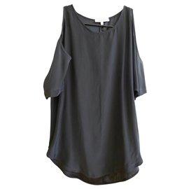 Sandro-sandro black silk blouse-Black