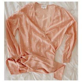 SéZane-sezane silk blouse-Pink