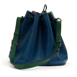 Louis Vuitton-NOE PM TRICOLORE-Red,Blue,Green