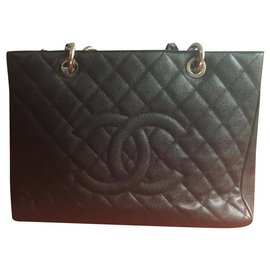 Chanel-Sac shopping-Blanc