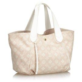 Louis Vuitton-Louis Vuitton Brown Ipanema PM-Brown,White,Beige