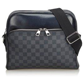 Louis Vuitton-Louis Vuitton Black Damier Graphite Dayton Reporter PM-Black,Grey