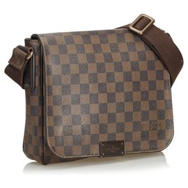 Louis Vuitton-Louis Vuitton Brown Damier Ebene District PM-Brown