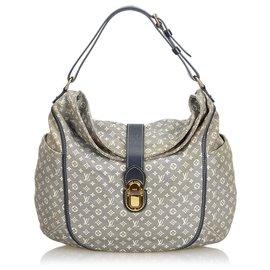 Louis Vuitton-Louis Vuitton Gray Monogram Mini Lin Idylle Romance-Grey