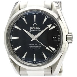 Omega-Omega Silver Stainless Steel Seamaster Aqua Terra Master Co-Axial Automatic Watch 231.10.39.21.01.002-Black,Silvery