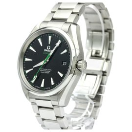 Omega-Omega Silver Stainless Steel Seamaster Aqua Terra Master Co-Axial Golf Edition Automatic Watch 231.10.42.21.01.004-Black,Silvery