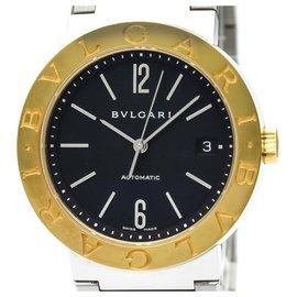 Bulgari-Bvlgari Gold Steel Automatic Watch-Silvery,Golden