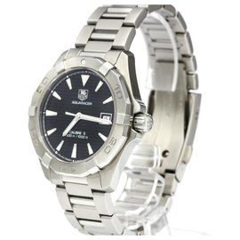 Tag Heuer-Tag Heuer Silver Stainless Steel Aquaracer Date Automatic Watch WAY2110.BA0928-Black,Silvery