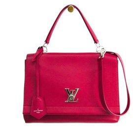 Louis Vuitton-Louis Vuitton Pink Leather LockMe II-Pink
