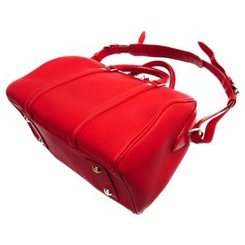 Louis Vuitton-Louis Vuitton Red Leather SC Bag PM-Red