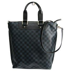 Louis Vuitton-Louis Vuitton Blue Damier Cobalt Cabas Jour-Black,Blue,Dark blue