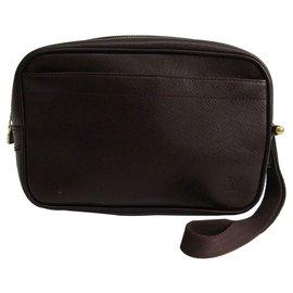 Louis Vuitton-Louis Vuitton Brown Pochette Kaluga-Brown,Dark brown