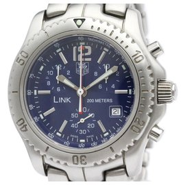 Tag Heuer-Tag Heuer Silver Stainless Steel Link Quartz Diver Watch CT1110.BA0550-Silvery,Blue