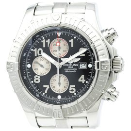 Breitling-Breitling Silver Avenger Automatic Stainless Steel Mens Sports Watch-Black,Silvery