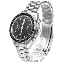 Omega-Omega Silver Stainless Steel Speedmaster Reduced II Automatic Watch 3539.50.00-Black,Silvery