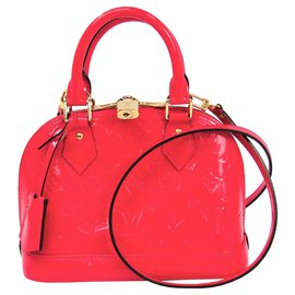 Louis Vuitton-Louis Vuitton Pink Vernis Alma BB-Pink