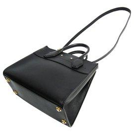 Louis Vuitton-Louis Vuitton Black Leather City Steamer PM-Black