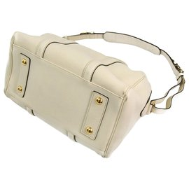 Louis Vuitton-Louis Vuitton White Leather SC Bag PM-White
