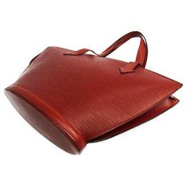 Louis Vuitton-Louis Vuitton Brown Epi Saint Jacques PM Short Strap-Brown
