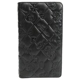 Chanel-Chanel Black Leather Icon Long Wallet-Black