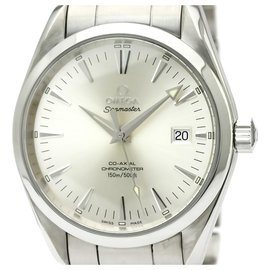 Omega-Omega Silver Stainless Steel Aqua Terra Co-Axial Automatic Watch 2503.30-Silvery