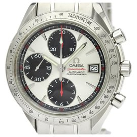 Omega-Omega Silver Stainless Steel Speedmaster Date Automatic Watch 3211.31-Black,Silvery
