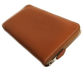 Hermès-Hermes Brown Epsom Azap Long Wallet-Brown