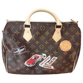 Louis Vuitton-Speedy shoulder strap-Dark brown