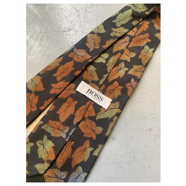 Hugo Boss-Cravates-Marron