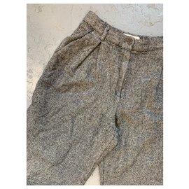 Valentino-Pants, leggings-Dark grey