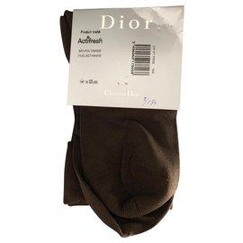 Christian Dior-Chaussettes-Marron foncé