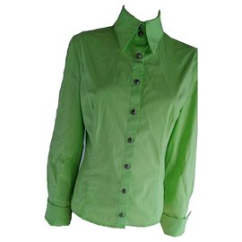 Versace-Versace Jeans Couture Medusa Shirt-Green