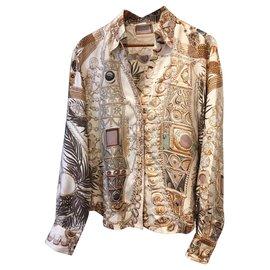Hermès-Wrap blouse-Beige,Light brown