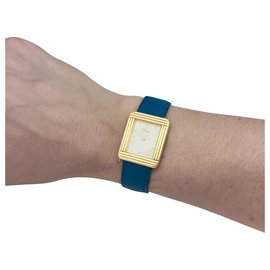 """Poiray-Poiray """"Ma Première"""" watch in gold plated on steel, interchangeable leather strap.-Other"""