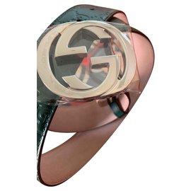 Gucci-Nouvelle ceinture Gucci gg jamais portée en vert-Vert