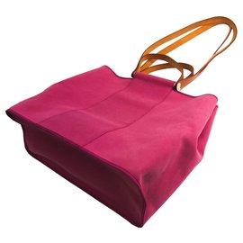 Hermès-Hermes Pink Cabag Tote Bag-Brown,Pink