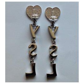 Yves Saint Laurent-Pendant necklaces-Silvery
