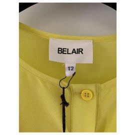 Bel Air-Chemise en soie jaune-Jaune