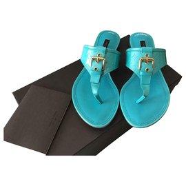 Louis Vuitton-pantheon flat-Bleu clair