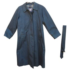 Burberry-imperméable Burberry vintage taille 36 à doublure laine amovible-Bleu Marine