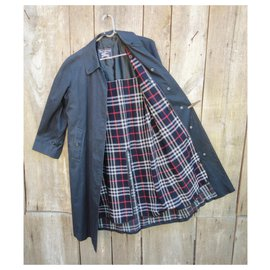 Burberry-Waterproof Burberry vintage size 36 with removable wool lining-Navy blue