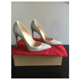 Christian Louboutin-Pigalle-Tollwut 100 GLITTER MINI-Andere